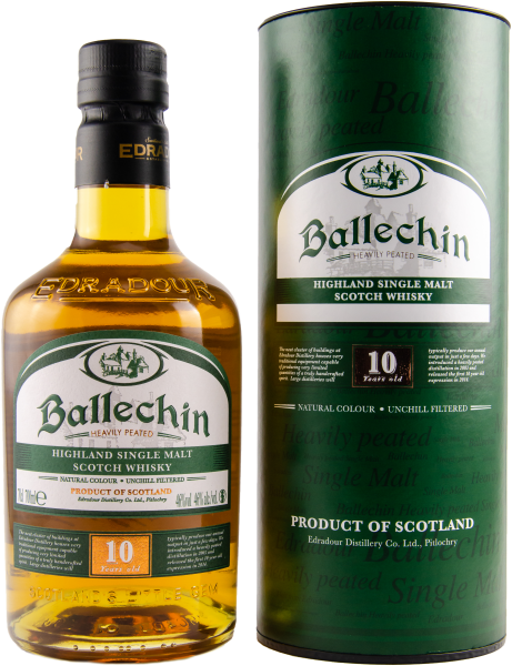 Ballechin, Edradour, 10y 46% heavily peated